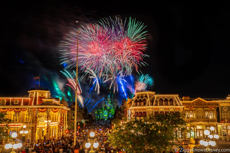 Happily Ever After Fireworks over Disney's Magic Kingdom Park
