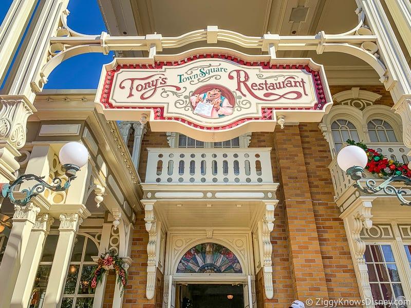 Tony's Town Square Restaurant entrance Magic Kingdom
