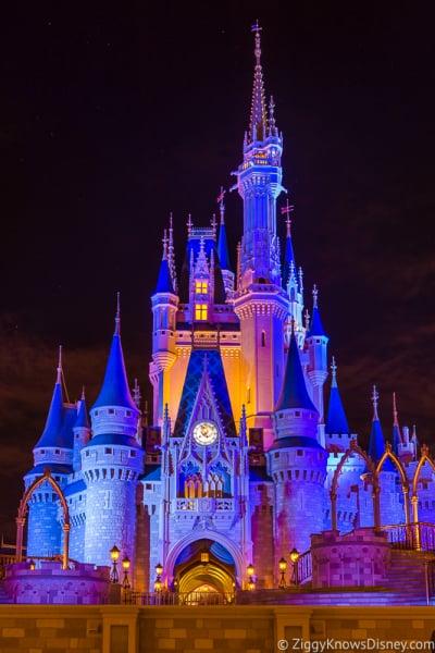 Cinderella Castle at night Disney's Magic Kingdom Park