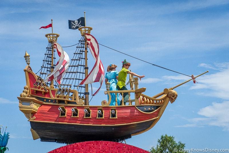 Peter Pan in Festival of Fantasy Parade at Disney's Magic Kingdom Park