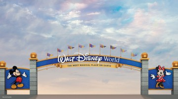 Walt Disney World entrance road sign makeover