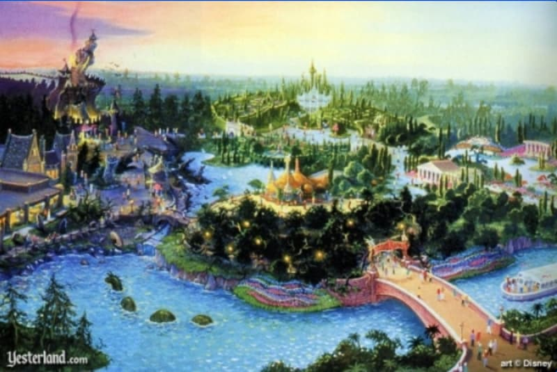Beastly Kingdom concept art Disney's Animal Kingdom