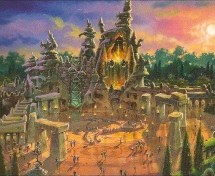 Beastly Kingdom concept art dragon roller coaster