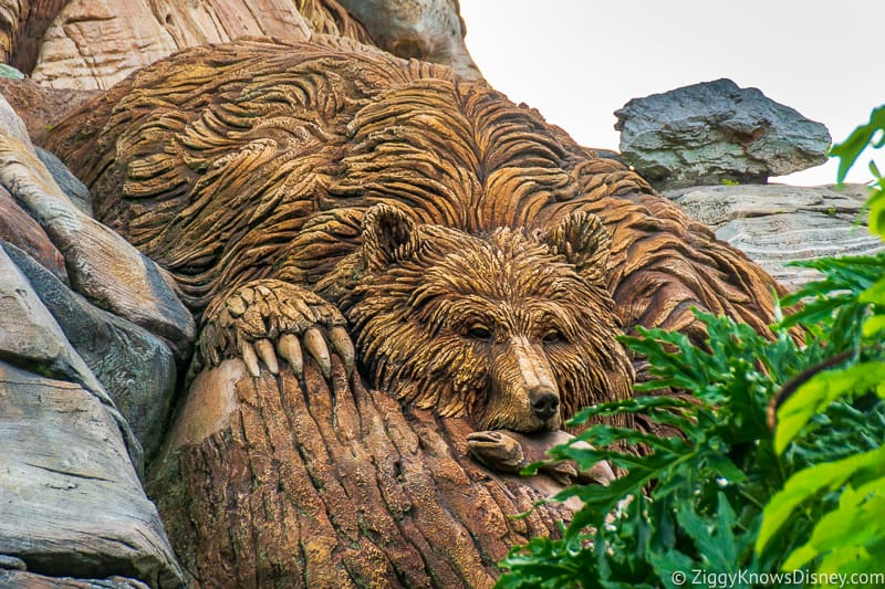 Bear sculpture on Tree of Life