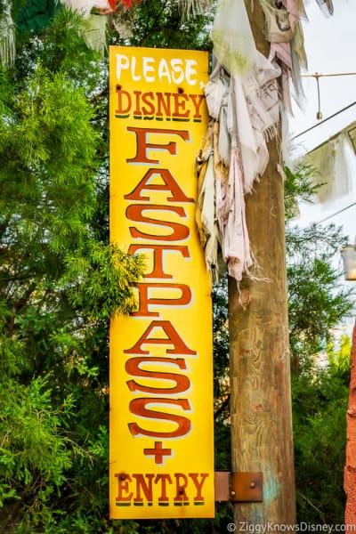 Disney's Animal Kingdom FastPass+ sign