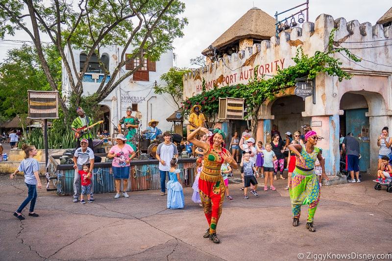 Disney's Animal Kingdom street performers in Harambe village