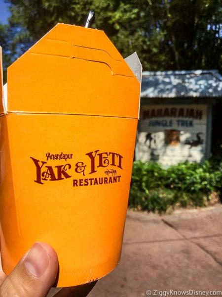 Yak & Yeti Restaurant Fried Rice Container
