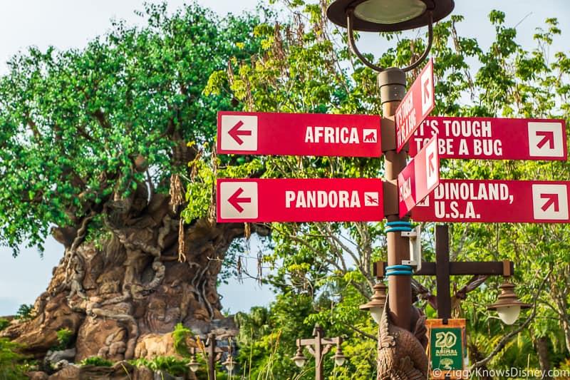 Direction sign at Disney's Animal Kingdom