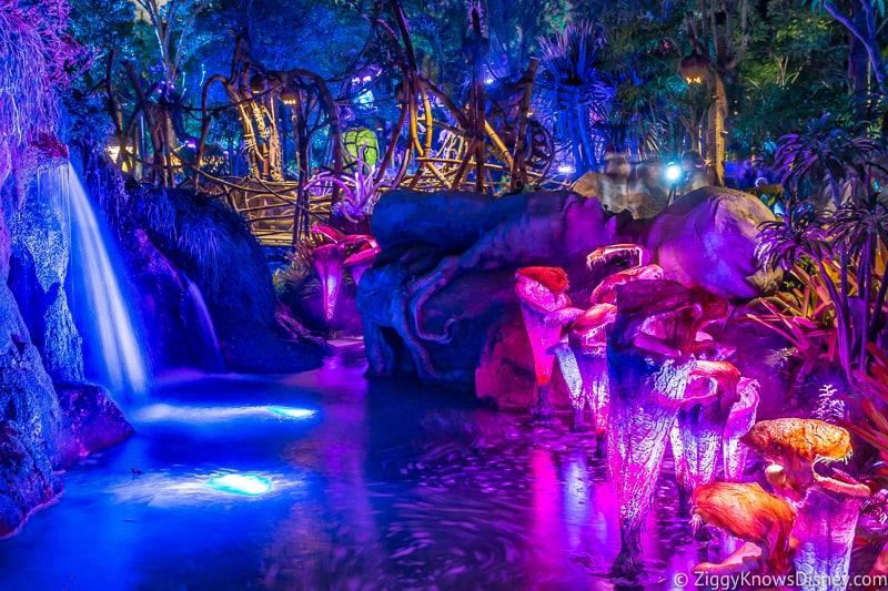 Pandora: The World of Avatar at night