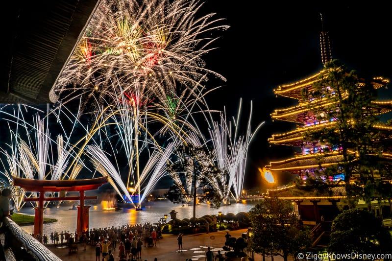 EPCOT Fireworks in Japan Pavilion