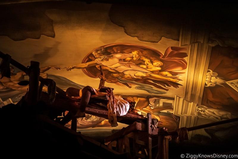 Spaceship Earth Michelangelo scene