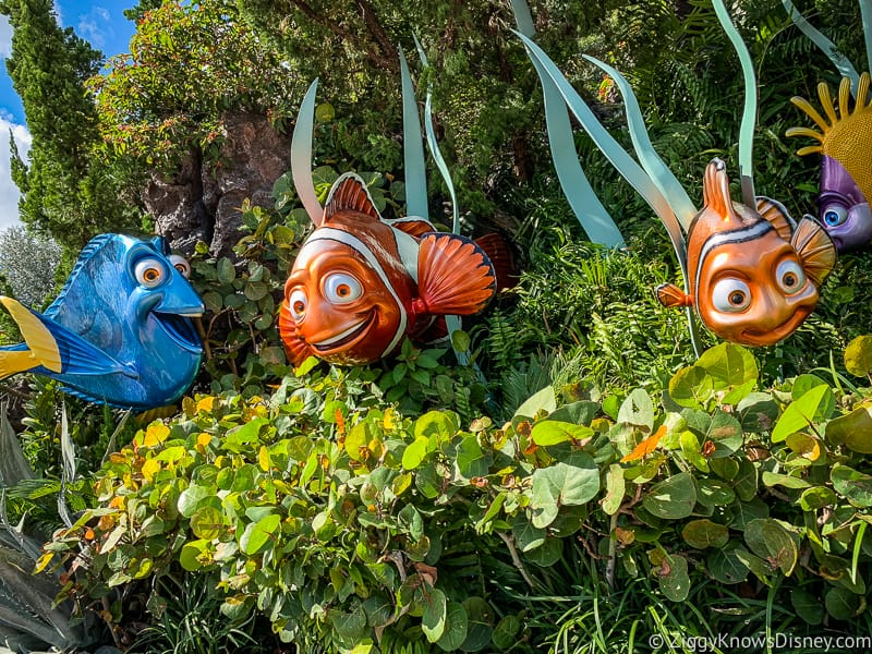 The Seas with Nemo characters