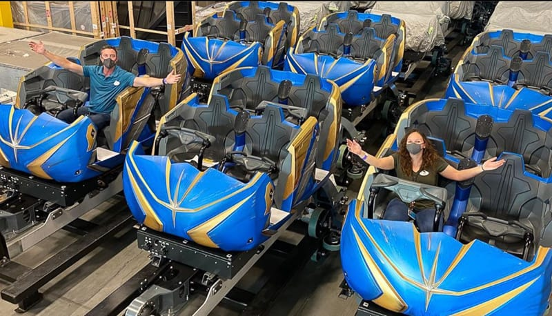 Guardians fo the Galaxy Cosmic Rewind ride vehicles