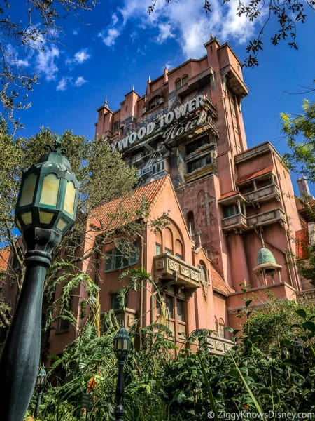 Outside the Tower of Terror