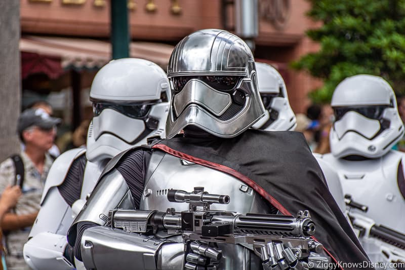 Captain Phasma and stormtroopers at Disney's Hollywood Studios