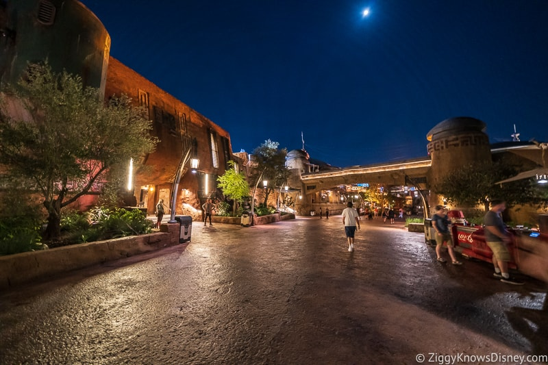 Galaxy's Edge at night