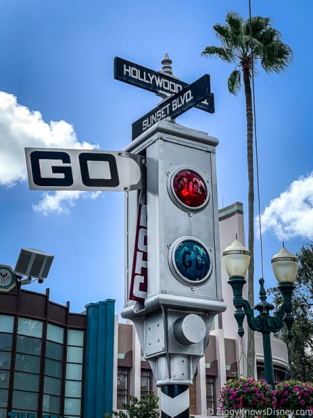 stop and go sign Hollywood Studios