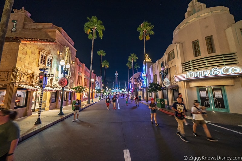 Hollywood Boulevard at night Hollywood Studios
