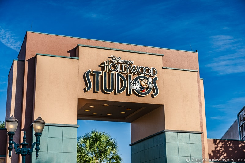 Disney's Hollywood Studios gate and old sign
