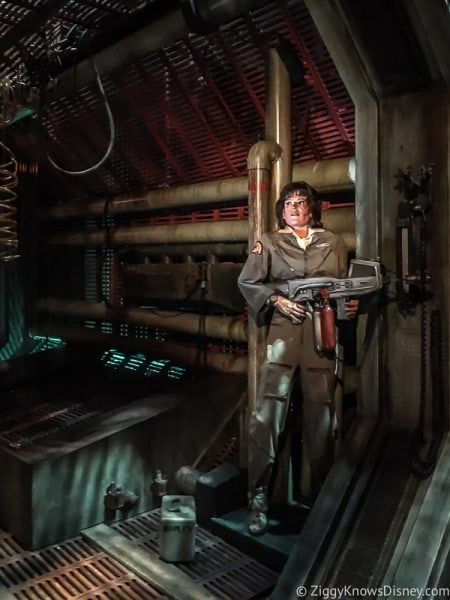 Alien scene Sigorney Weaver The Great Movie Ride Hollywood Studios