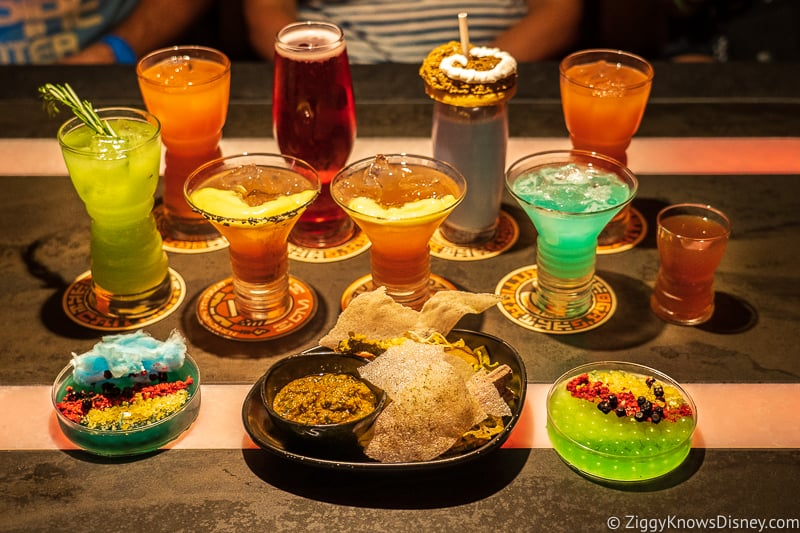 Oga's Cantina drinks and food Galaxy's Edge