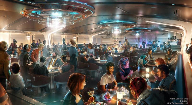 Star Wars Galactic Starcruiser Dining Concept Art