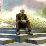 statue of Walt Disney at EPCOT Park Disney World Concept Art