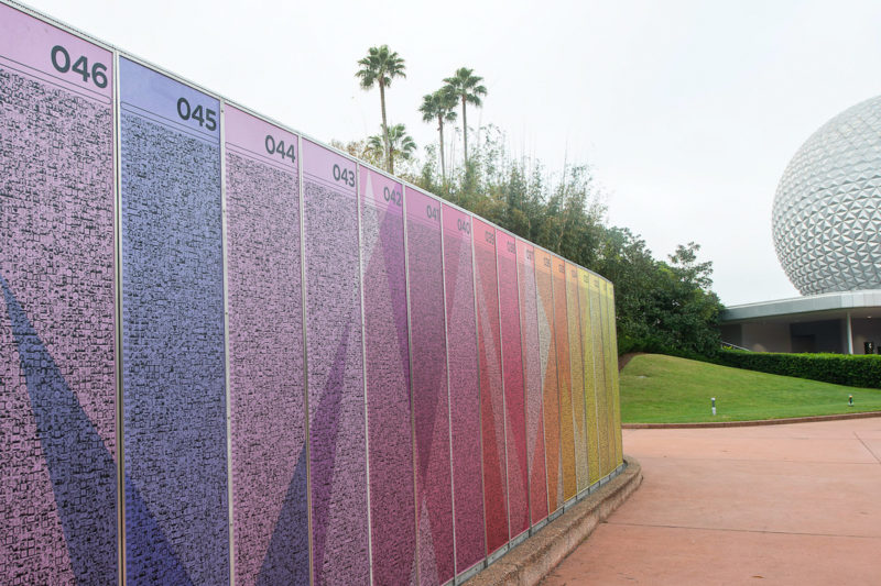 New EPCOT Leave a Legacy panels
