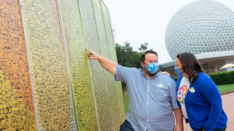 New EPCOT Leave a Legacy monuments