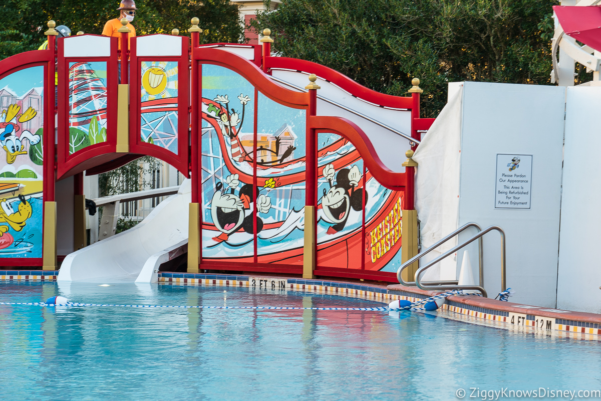 Mickey and Friends Slide refurb from a distance