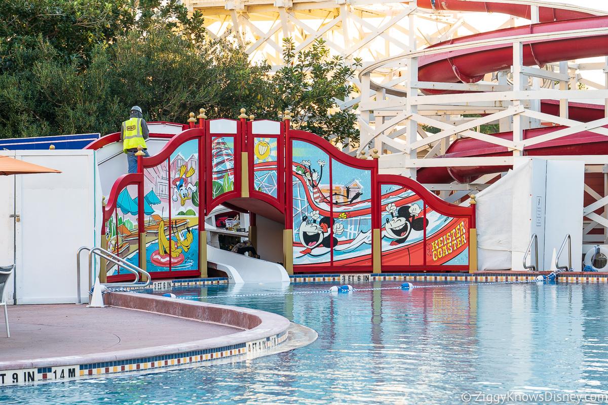 Mickey and Friends Slide refurbishment almost complete