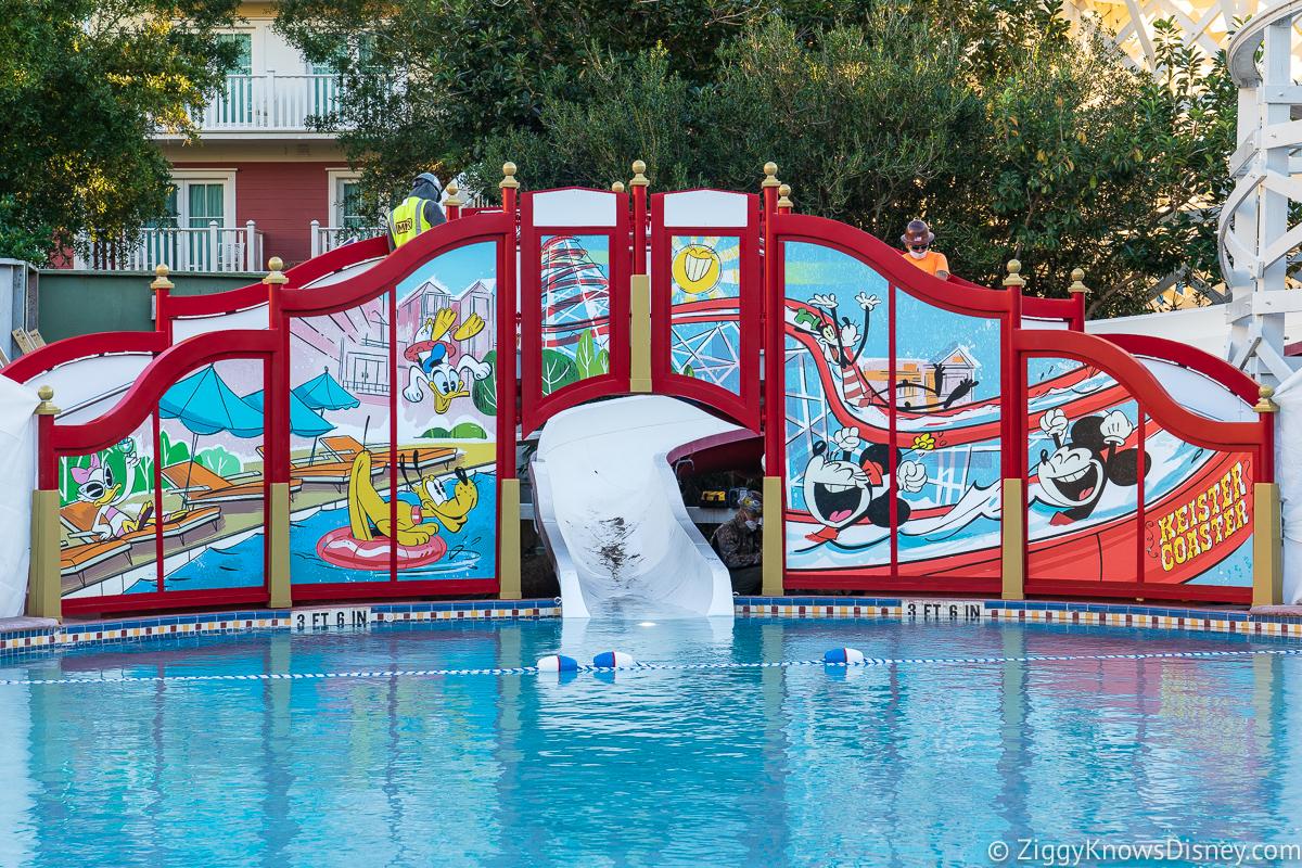 Slide at Luna Park Pool Disney's Boardwalk Inn