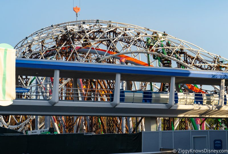 Construction on TRON coaster Magic Kingdom
