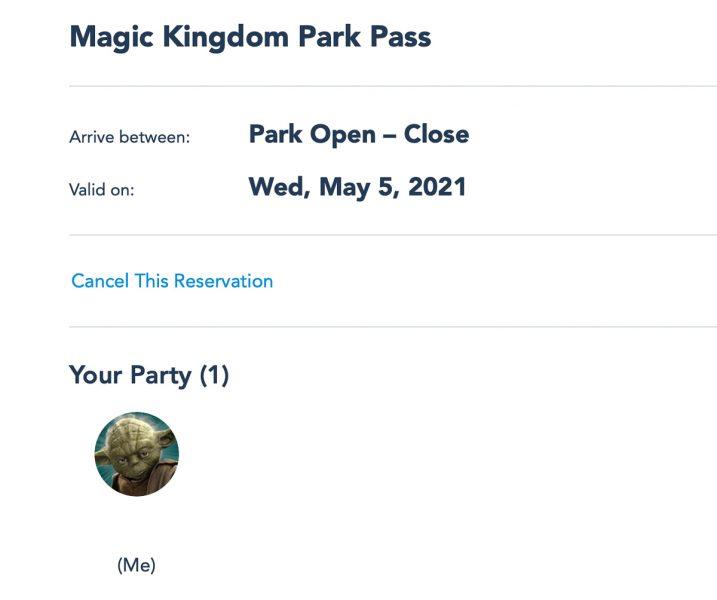 Cancel Disney Park Pass