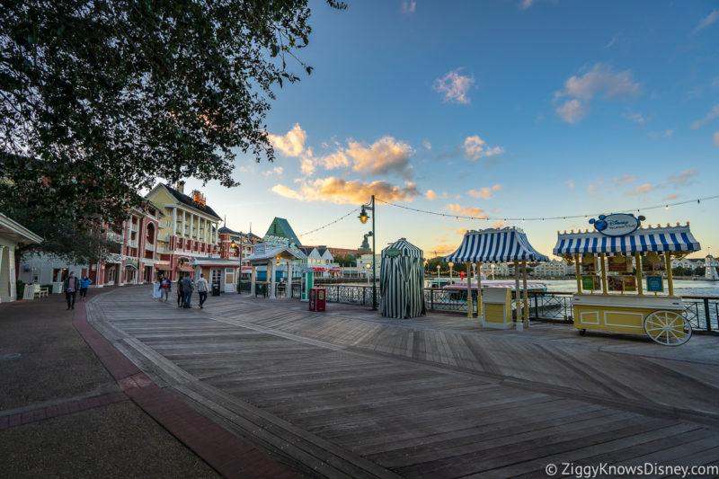 Disney World Boardwalk at sunset