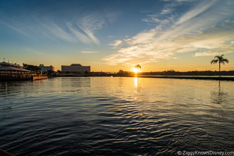 Sunset over Seven Seas Lagoon Contemporary Resort