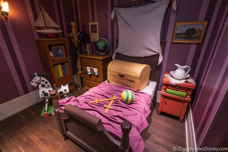 Peter Pan's Flight queue bedroom