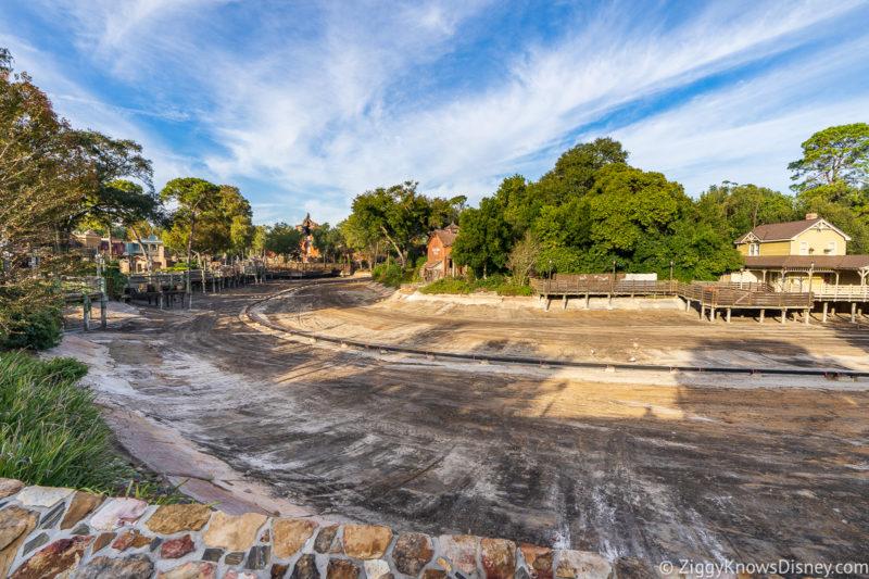 Rivers of America drained for refurbishment Magic Kingdom