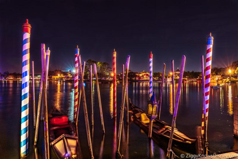 Italy gondolas EPCOT at night