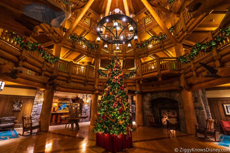 Disney World holiday decorations in January