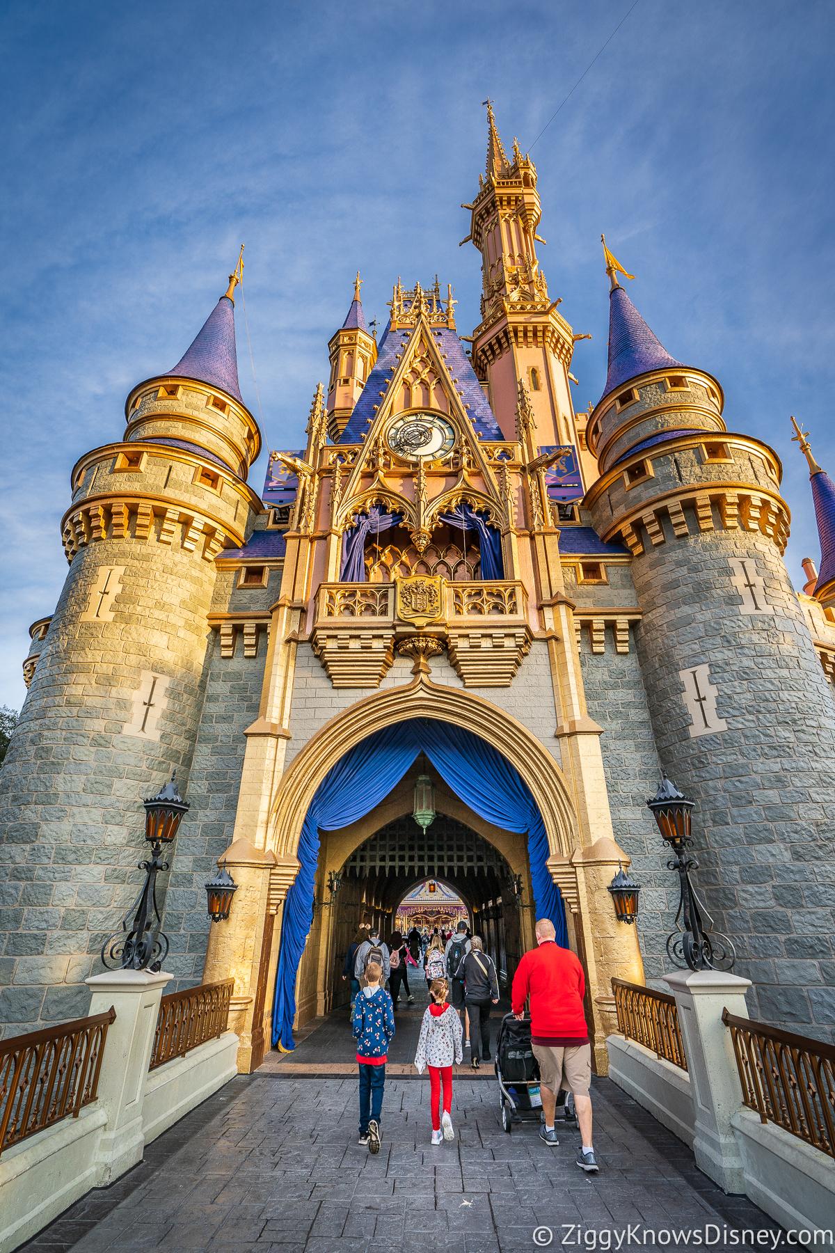 Walking through Cinderella Castle Disney World Magic Kingdom