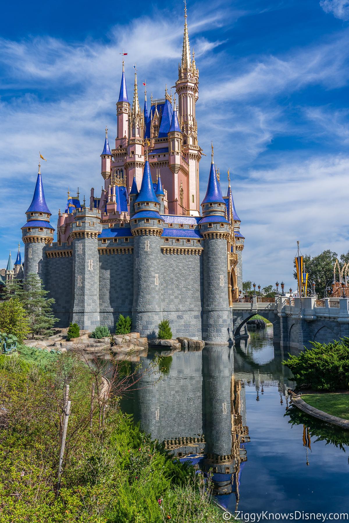 Cinderella Castle Magic Kingdom by the moat