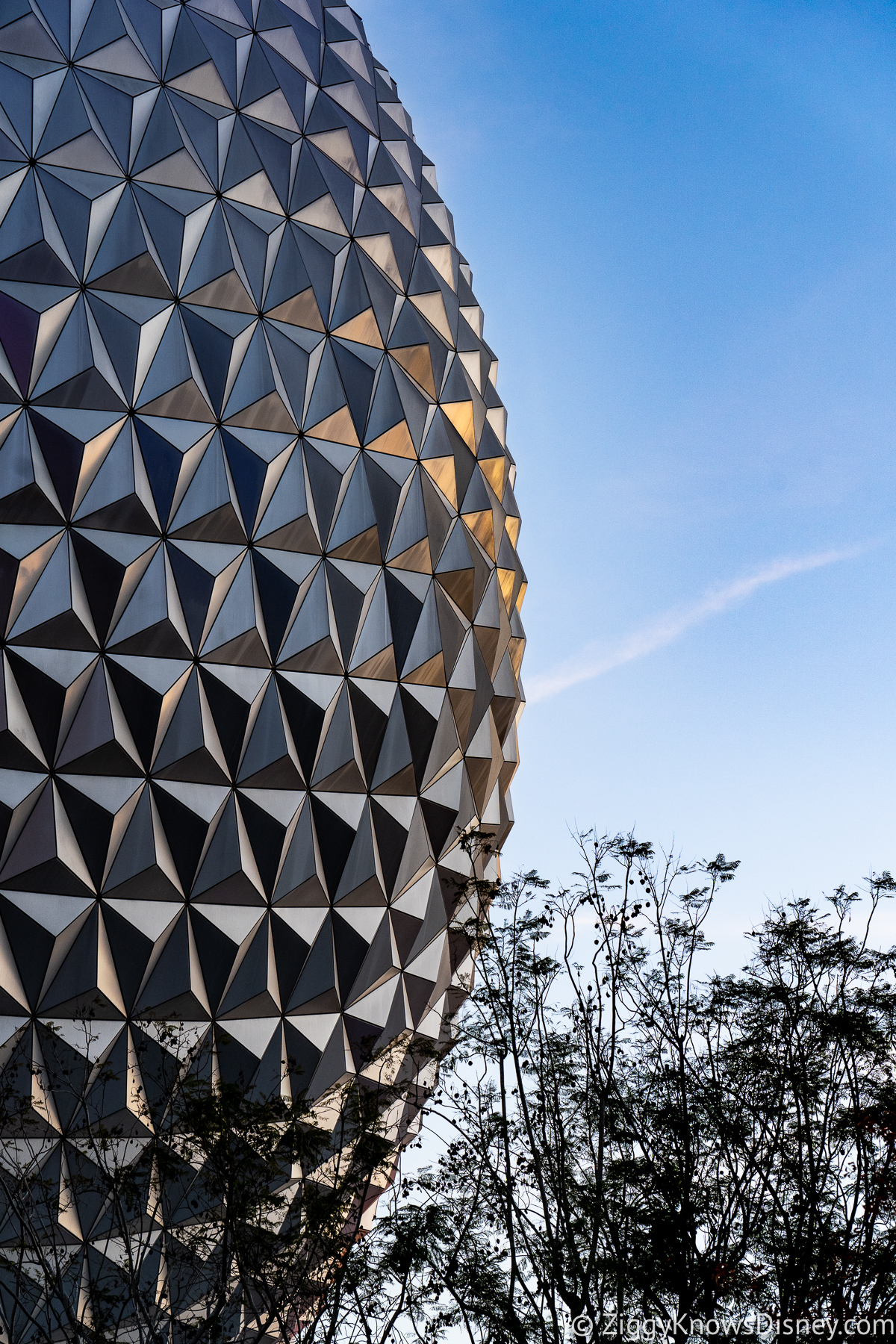 Spaceship Earth EPCOT at Sunset