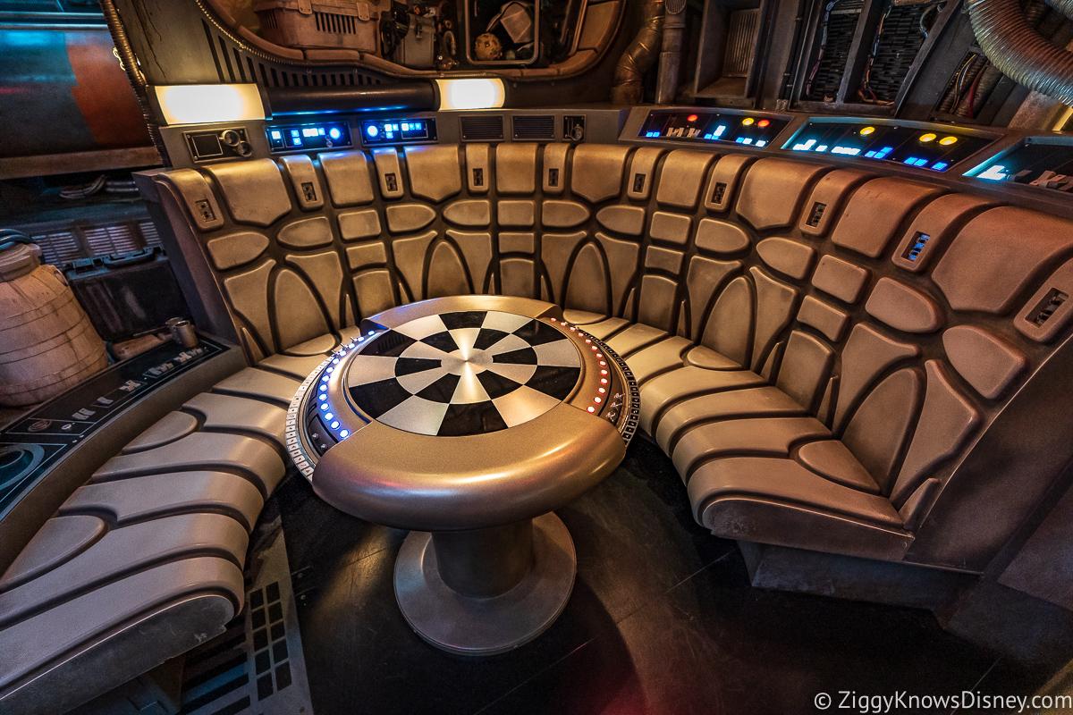 inside Millennium Falcon Smugglers Run table