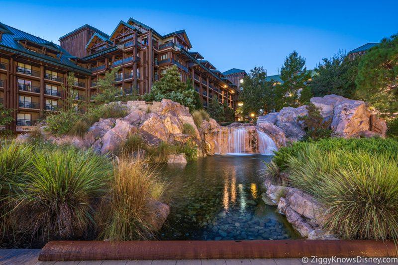 Disney's Wilderness Lodge at sunrise