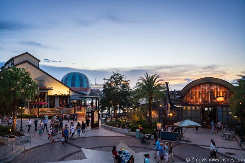 Disney Springs at sunset