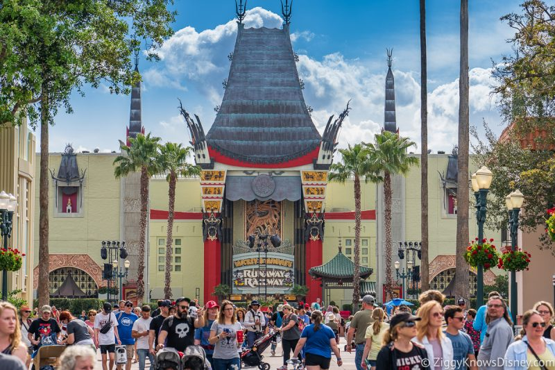 crowds outside Chinese Theater Hollywood Studios