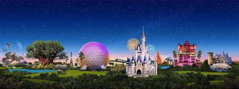 4 Walt Disney World Theme Parks