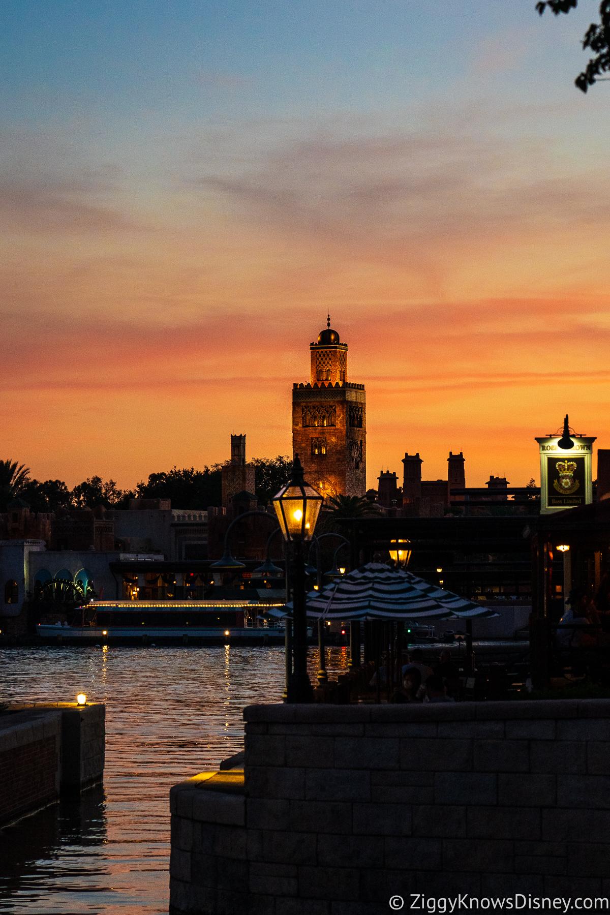 Morocco Pavilion EPCOT sunset