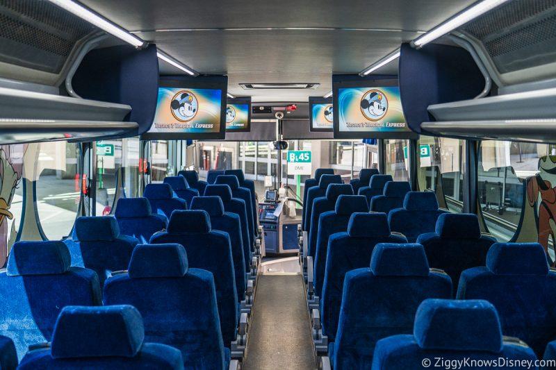 Disney's Magical Express bus inside